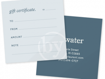 Bywater restaurant gift certificate